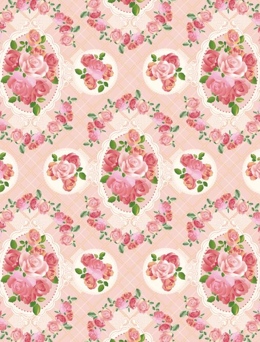 ロマンチックローズ 薔薇のパターン